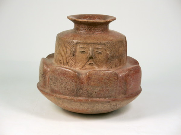 Bowl with Maguey Leaves and Faces