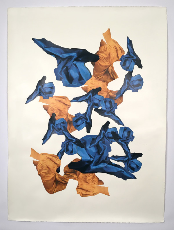 Untitled (blue and orange) by Ray Beldner