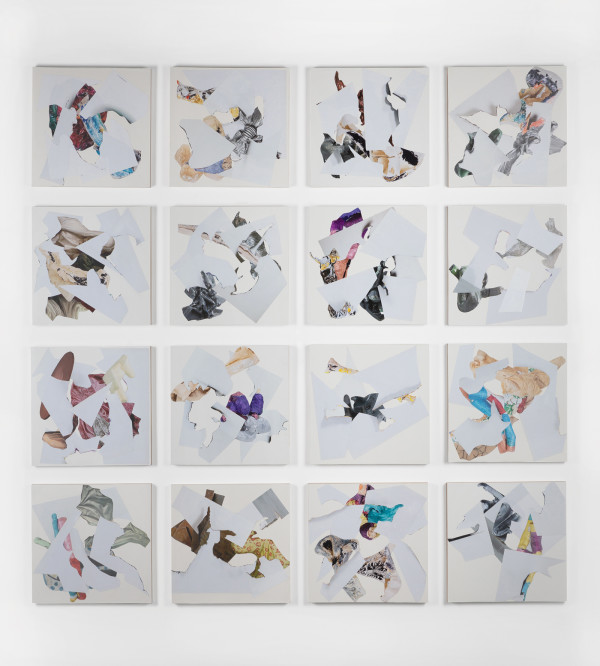 """Collage Installation """"Such Small Hands"""" by Ray Beldner"""