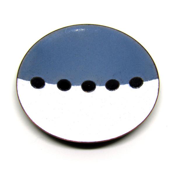 MCA132, Tricolour White Grey Black Dish by Anne McArdle