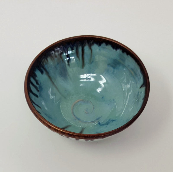 BRI057, Tiny Summer Clouds Bowl by Jane Bridger