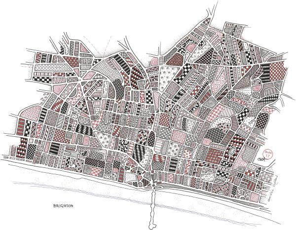 HIG078, Brighton by Christine Highland - Maps
