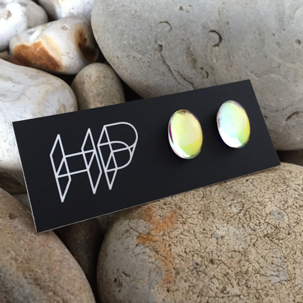 PAX360,  Oval DAZZLE Stud Earrings by Hildegard Pax - Jewellery