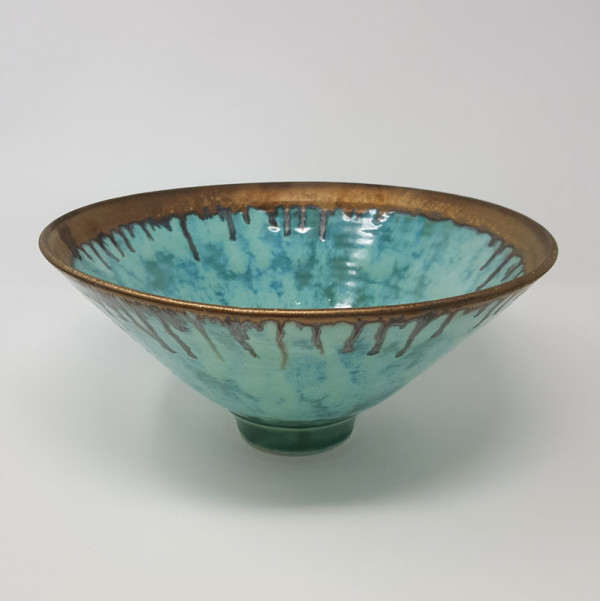 BRI059, Large Summer Clouds Bowl by Jane Bridger