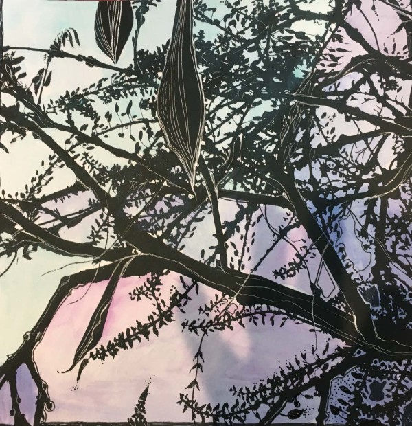 MCD166, Evening Wisteria by Ruth McDonald