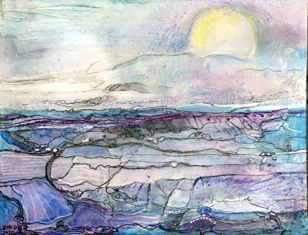 MCD173, Purple Wash by Ruth McDonald