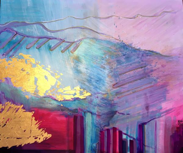MCD180, Gold Splash by Ruth McDonald