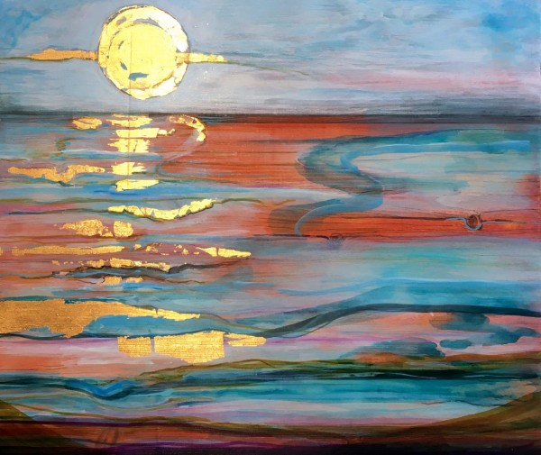 MCD182, Sunrise Over Marshes by Ruth McDonald
