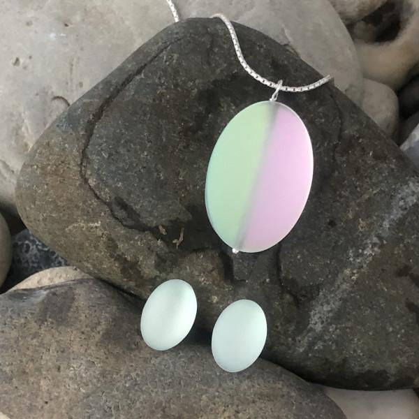 PAX384 Glow - Oval Necklace & Earrings Set by Hildegard Pax - Jewellery