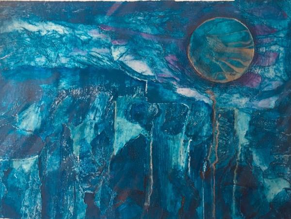 MCD148, Weeping Blue Moon by Ruth McDonald
