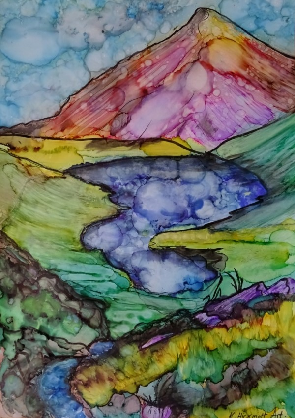 Cwm Idwal valley by Kate Hickmott Art