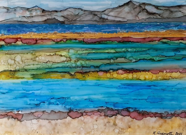 The mud flats of Farewell Spit by Kate Hickmott Art