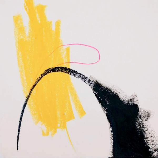 Formas 2 (Neon Pink, Black, Yellow) by Alejandra Jean-Mairet