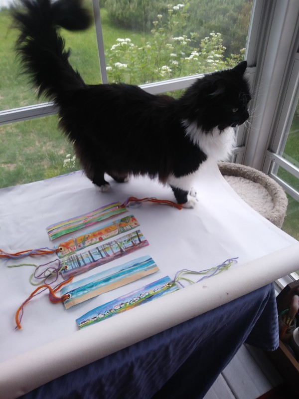 bookmarks (cat not for sale) by Tina Rawson
