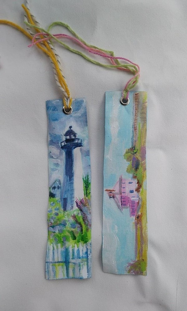 Bookmarks: Pink House and PI Lighthouse by Tina Rawson