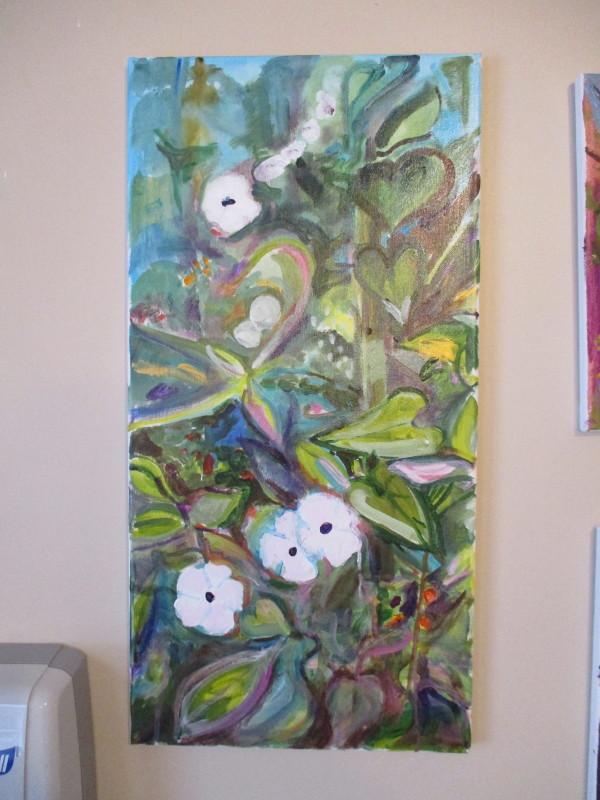 White flower thicket by Tina Rawson