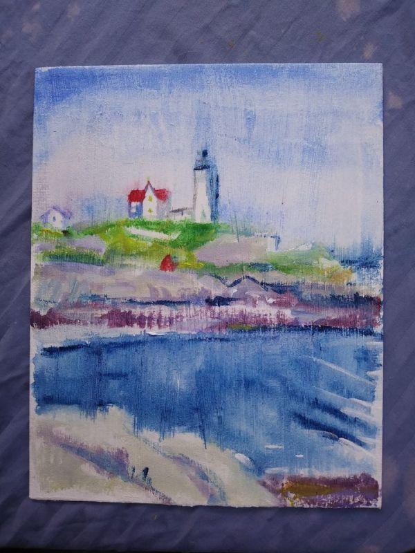 Nubble Light House by Tina Rawson