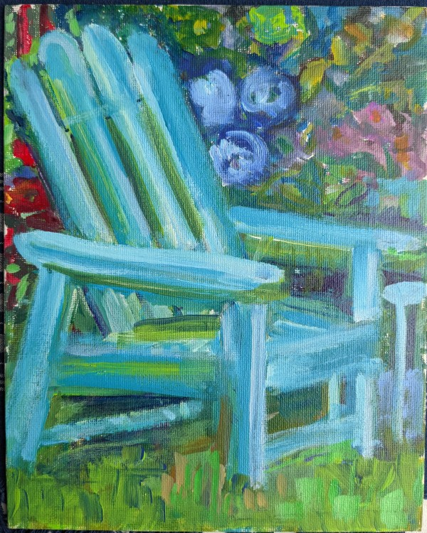 Blue Adirondack by Tina Rawson