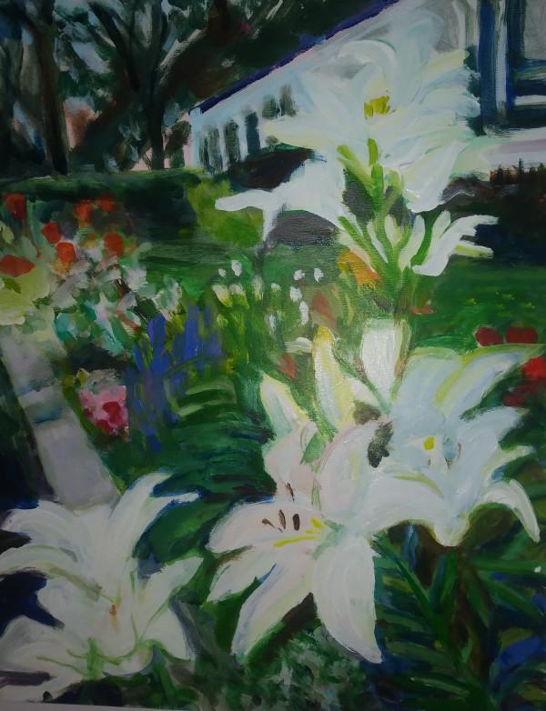 White Flowers by Tina Rawson
