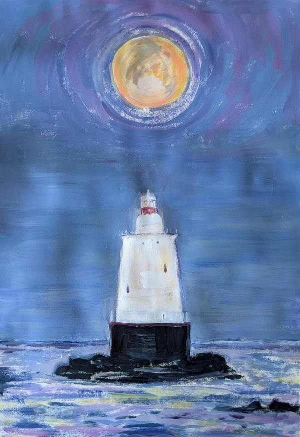 Sakonnet Point Light by Tina Rawson