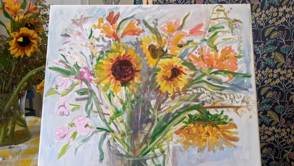 Waning Sunflowers by Tina Rawson