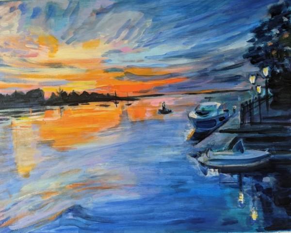 Candy Colored Sunrise by Tina Rawson