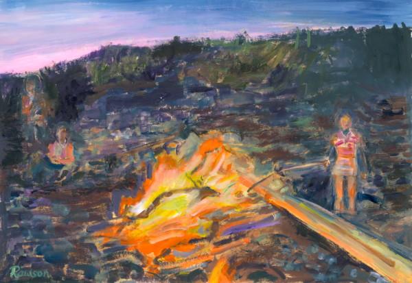 Bonfire on the Beach by Tina Rawson