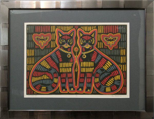 Twin Mola Cats   8/40 by Dorr Bothwell