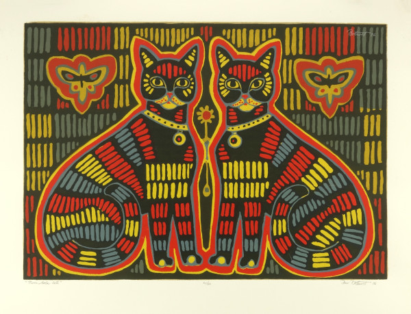 Twin Mola Cats   21/40 by Dorr Bothwell