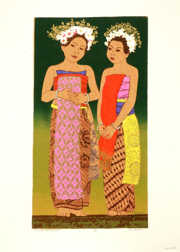 Little Balinese Girls   a/p by Dorr Bothwell