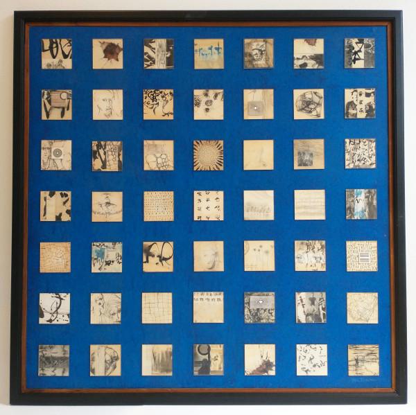 Glass Squares on Blue by Jim  Bertram
