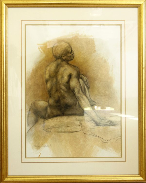Male Figure Drawing by Larry Bencich