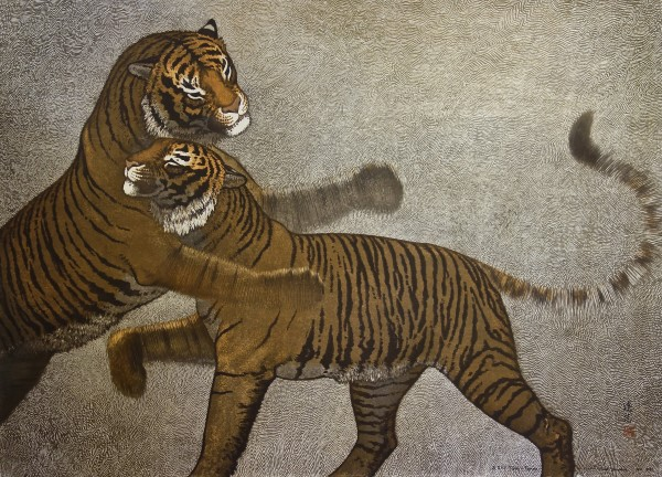 Tiger and Tigress  10/100 by Toshi  Yoshida
