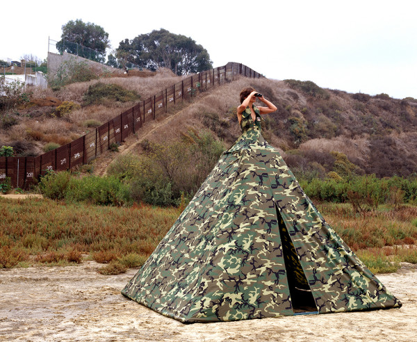 Ms. Homeland Security: Illegal Entry Dress Tent by Robin Lasser and Adrienne Pao