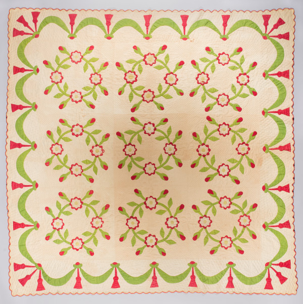 Indiana Rose Quilt by Unknown Artist