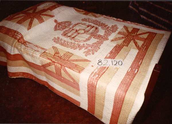 Royal Hawaiian Flag Quilt by Unknown Artist