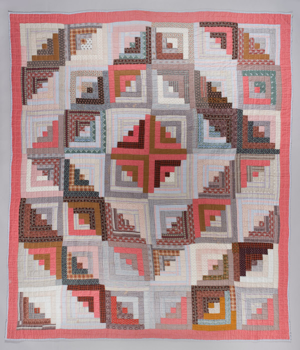 Log Cabin Quilt (Barn Raising variation) by Hedwig Smith