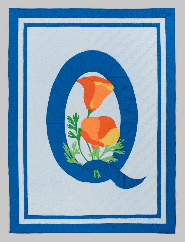 Q Symposium Logo Quilt by Sylvia Moore
