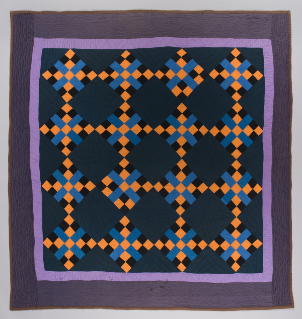 Amish Four Patch Cross Quilt by Unknown Artist