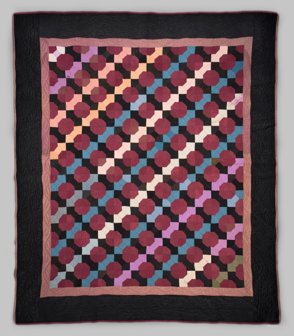 Amish Bow Tie Quilt by Unknown Artist