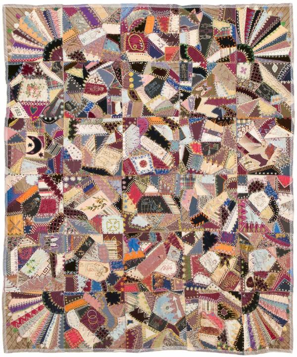 Victorian Crazy Patch Quilt by Augusta M. West