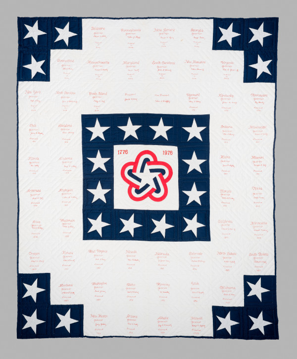 Bicentennial Quilt by Lillian Collins and Maurine Schuldt