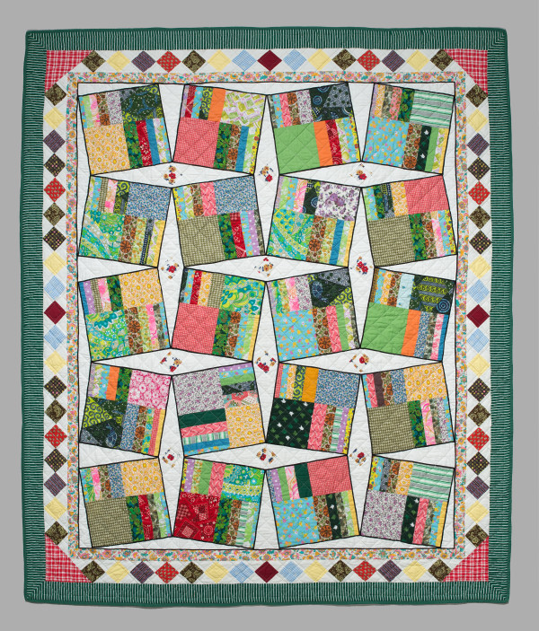 Falling Blocks Quilt by Ernest Haight