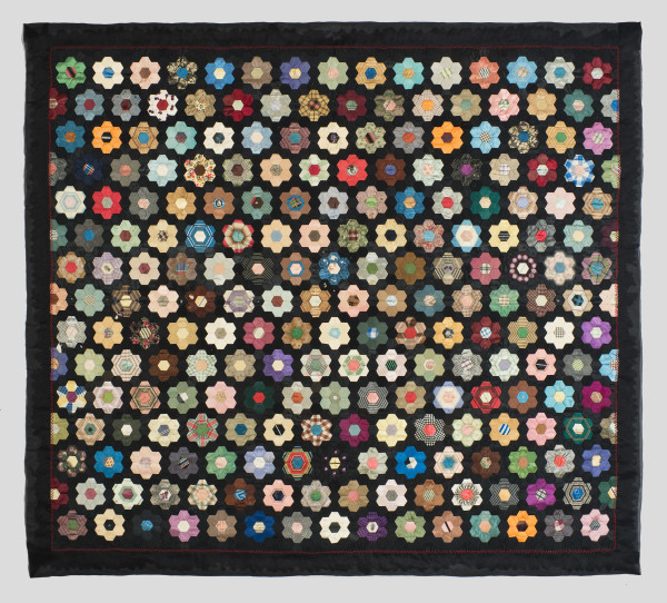 Mosaic Flower Garden Quilt by Unknown Artist