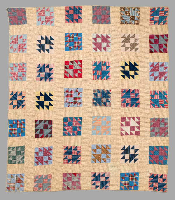 Fox and Geese Quilt by Unknown Artist
