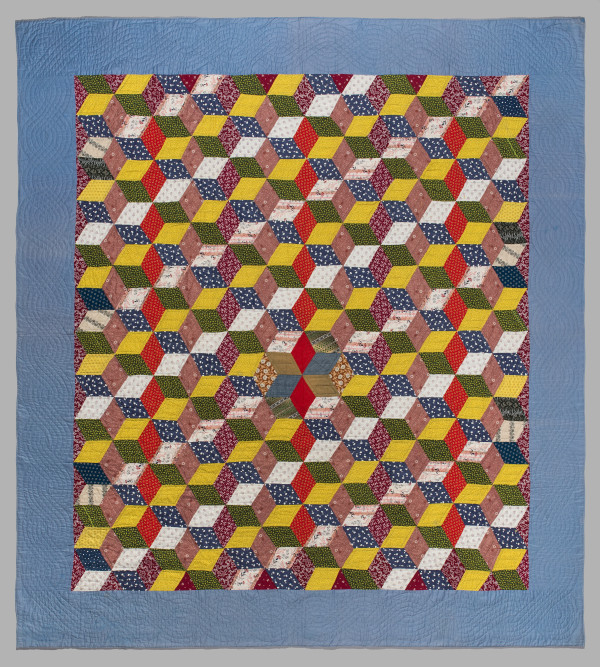 Tumbling Blocks Quilt by Unknown Artist