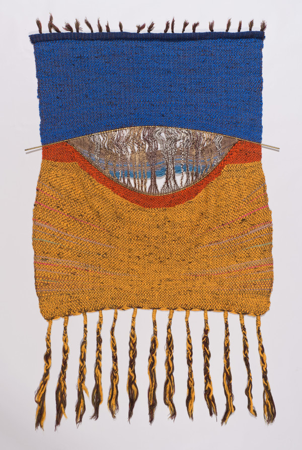 River Ever Flowing Weaving by Mary Balzer Buskirk