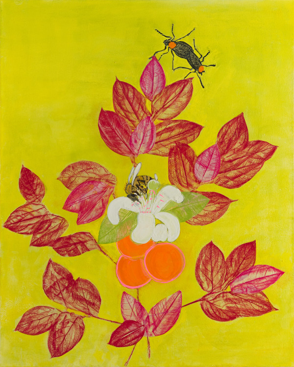 Orange Citrus with Pink by Alexandra Anderson Bower