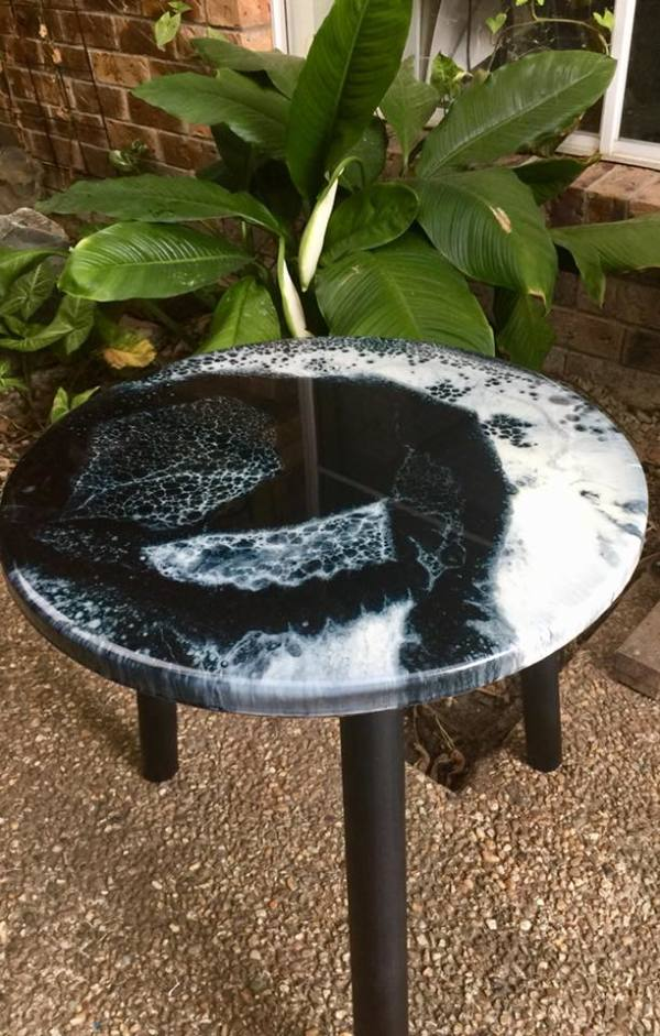 40cm Coffee/Patio Table - Eclipse by Gayle Reichelt