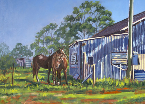 Horses -  Limited Edition Print 1/25 framed by Gayle Reichelt